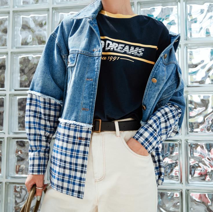 Bleu Mode Jean Automne Longues Manches À Femme Nouvelle Veste pqzPwT