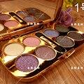8 colores nuevo diamante brillante maquillage maquillaje nake paleta de sombra de ojos cosmético con el cepillo de sombra de ojos profesional set maquillaje