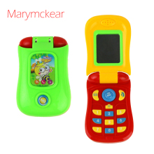 Пластмассовые детские игрушки для детей старше 1 года, электронный музыкальный телефон, игрушка для мобильного телефона, обучающая музыкальная игрушка