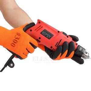 Image 4 - 10 Pairs Winter Warm Working Gloves Anti Slip Waterproof Latex Rubber Coated Work Safety Gloves For Garden Repairing Builder