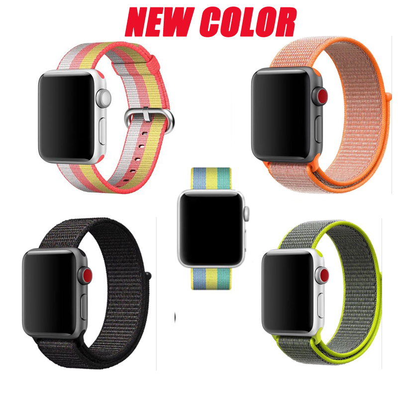Series 4/3/2/1 straps For Apple Watch sport loop nylon band woven 38mm 42mm 40mm 44mm bracelet For iwatch belt
