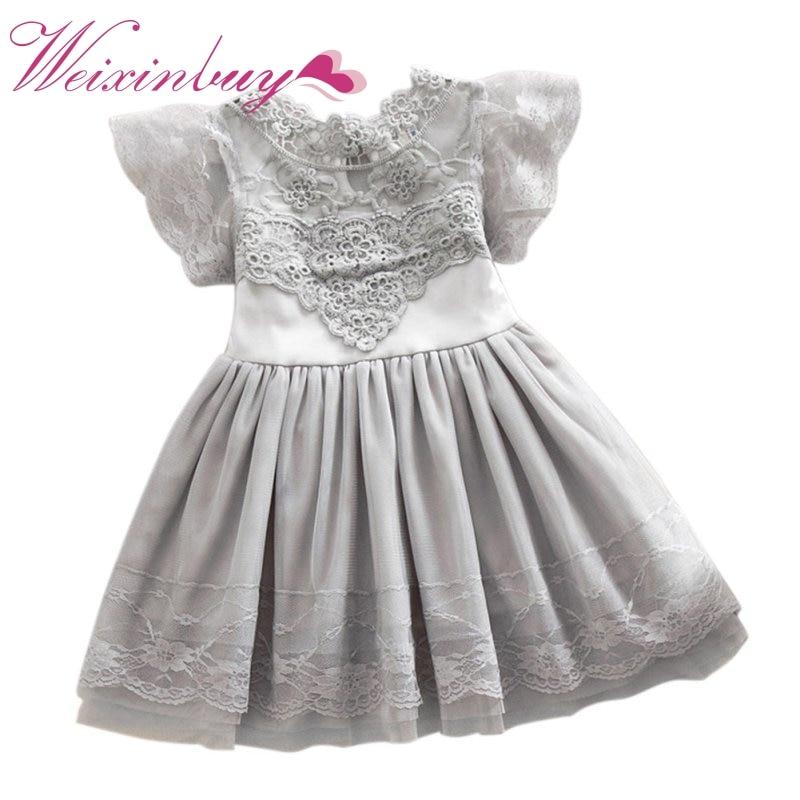 Детские платья для Обувь для девочек летнее платье для маленьких девочек для маленьких детей Кружево платье с фатиновой юбкой платье-пачка ...