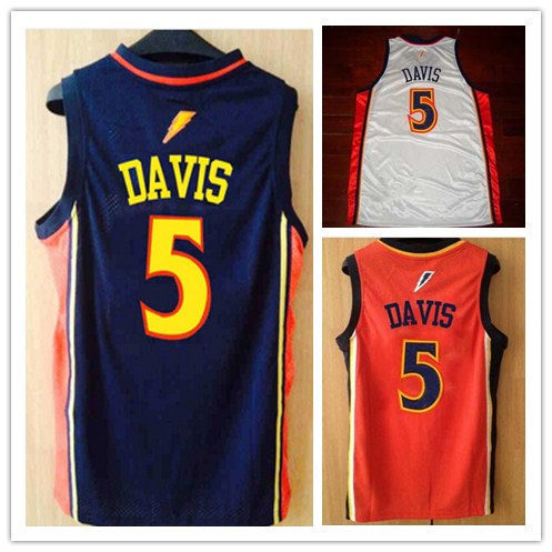 46a1d7a7e Golden State 5 Baron Davis Basketball Jersey white blue Retro Throwback  Lightning Eighth Seeded Customized Embroidery Jersey-in Basketball Jerseys  from ...