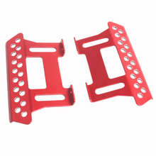 2Pcs Metal Side Pedal Plate For Axial Scx10 Side Step Sliders 1:10 Scale Rc Crawler Car Part 1set grc trx4 metal side plate side bar repair part for grc trx 4 bronco ford simulation side step gax0102bs b rc crawler car