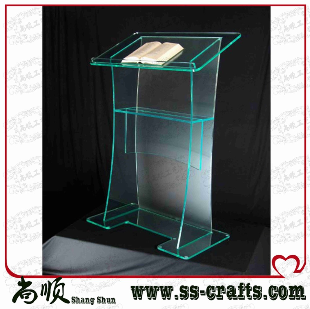 Free Shipping Simple Elegant Acrylic Podium Pulpit Lectern