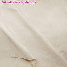 Good Quality Wide 145cm Off White Wool Fabric Thick Double Side wool Fabric Lady's Coatl Fabric DIY Sewing Winter Coat Dress photochromic wool fabric