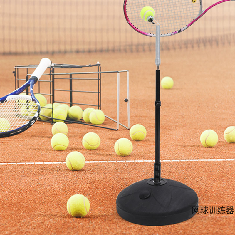 Black Plastic Tennis Ball Machine Upgrade Portable Tenis Trainer Professional Self-study Accessories Practice Tool For Beginners