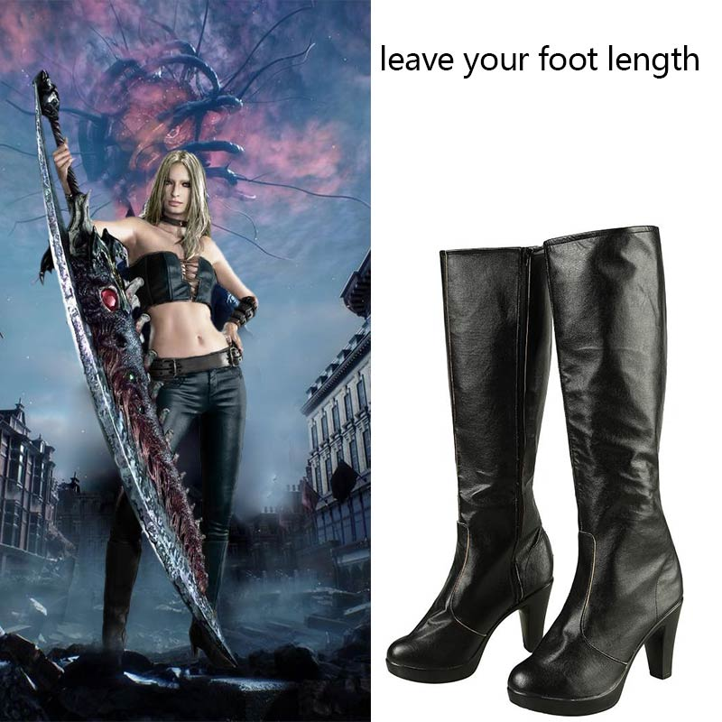 Anime Devil May Cry 3 Lady Cosplay Boots Shoes