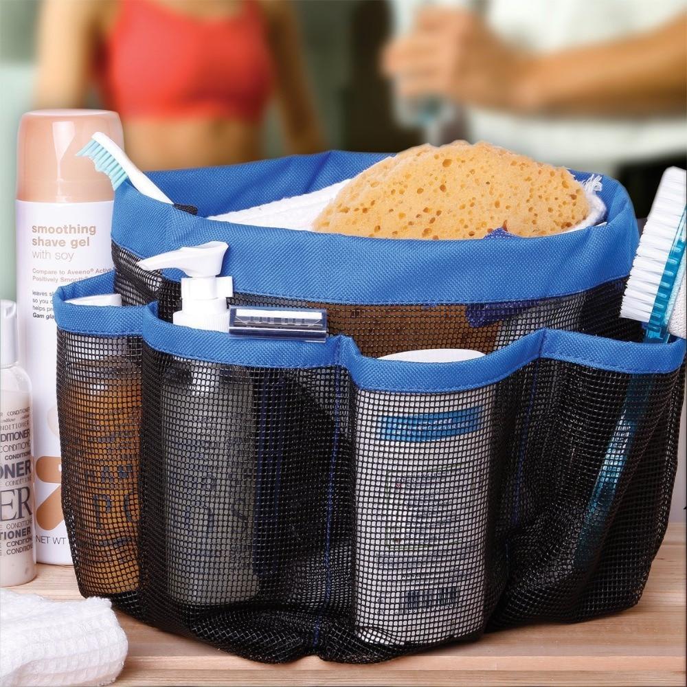 New Travel Bath shower Caddy Tote Bag w/ 8 Outside Pockets Bathroom ...