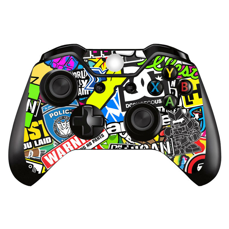 buy 2 pieces bombing cover decal for xbox one controller skin sticker for xbox. Black Bedroom Furniture Sets. Home Design Ideas