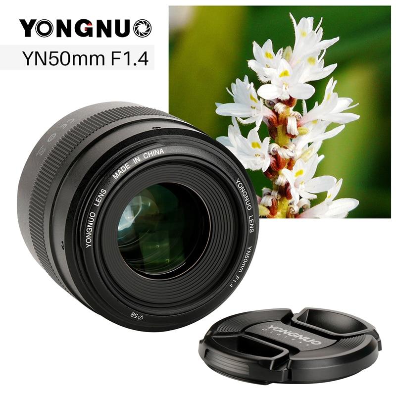 YONGNUO YN50mm F1.4 большой апертурой Камера объектив для Canon фиксированный EF жизни линзы с USB Порты и разъёмы для EOS