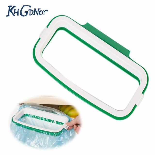 Kitchen Stand Trash Rack With Clip Hanging Trash Bag Holder Trash Can  Desktop Cupboard Bag Storage