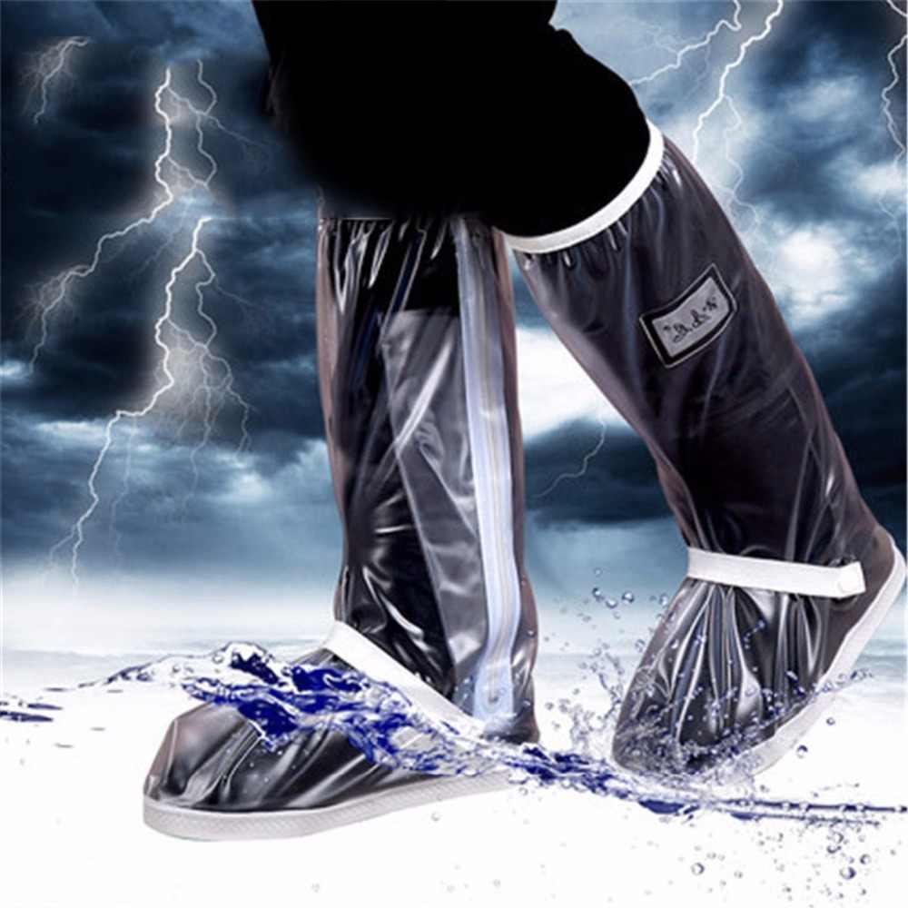 Eceran dan Grosir dengan Tahan Air Dapat Digunakan Kembali Motor Bersepeda Sepeda Hujan Boot Sepatu Mudah untuk Naik untuk Pengendara