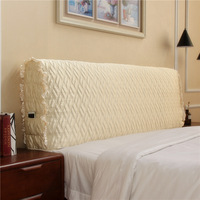 Modern minimalist fabric quilted all inclusive headboard bed cover dustproof cover solid wood soft bag back cover bed spread