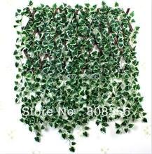 """24 قطعة 200 سنتيمتر/78.74 """"الاصطناعي الأخضر بيجونيا الأحمر القيقب ليف فاينز محاكاة اللبلاب الروطان جدار زهرة ورقة الكرمة الأخضر نبات قصب"""