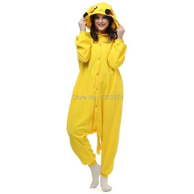 7f168649aba24 HKSNG Vendeur Chaud Rose Jaune Pikachu Pokemon Pas Cher Pyjamas Kigurumi  Onesies Adulte Pyjamas Animaux Cosplay