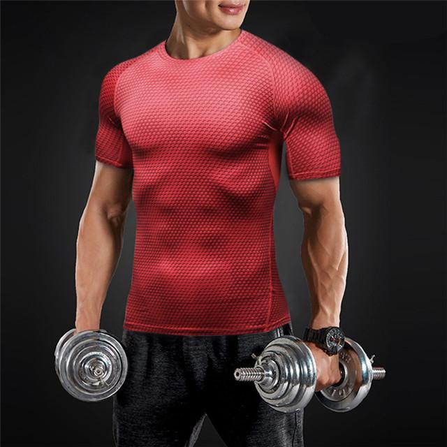 Camiseta de Compresión de Deportes para Hombres