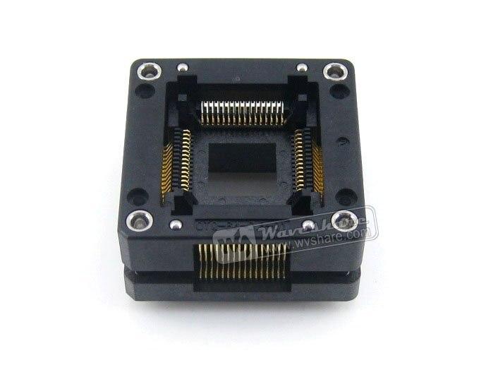 все цены на  QFP64 TQFP64 LQFP64 OTQ-64-0.8-01 Enplas IC Test Burn-in Socket Adapter 0.8Pitch Free Shipping  онлайн