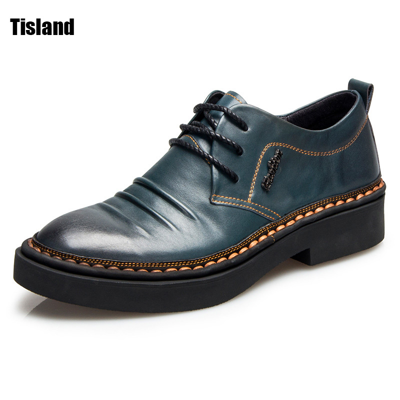 Fashion Men Shoes Genuine Leather Men Dress Shoes Brand New Top Quality Men's Business Casual Gentleman Shoes Man Oxfords 2016 new high quality genuine leather men business casual shoes men woven breathable hole gentleman shoes brand taima 40 45