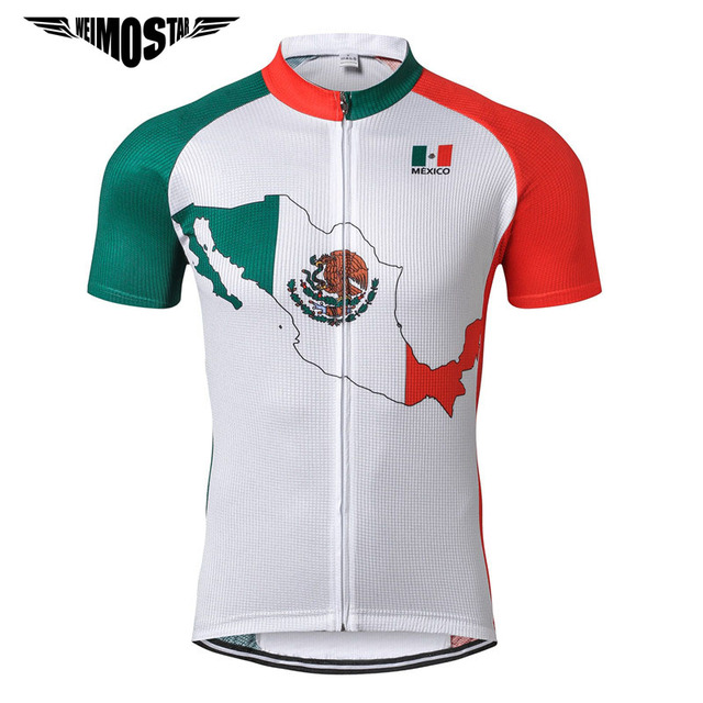 Weimostar Mexico Pro Team Cycling Jersey Men Short Sleeve Cycling Clothing  Mountain Bicycle Clothes Quick Dry MTB Bike Jersey 938aeca99