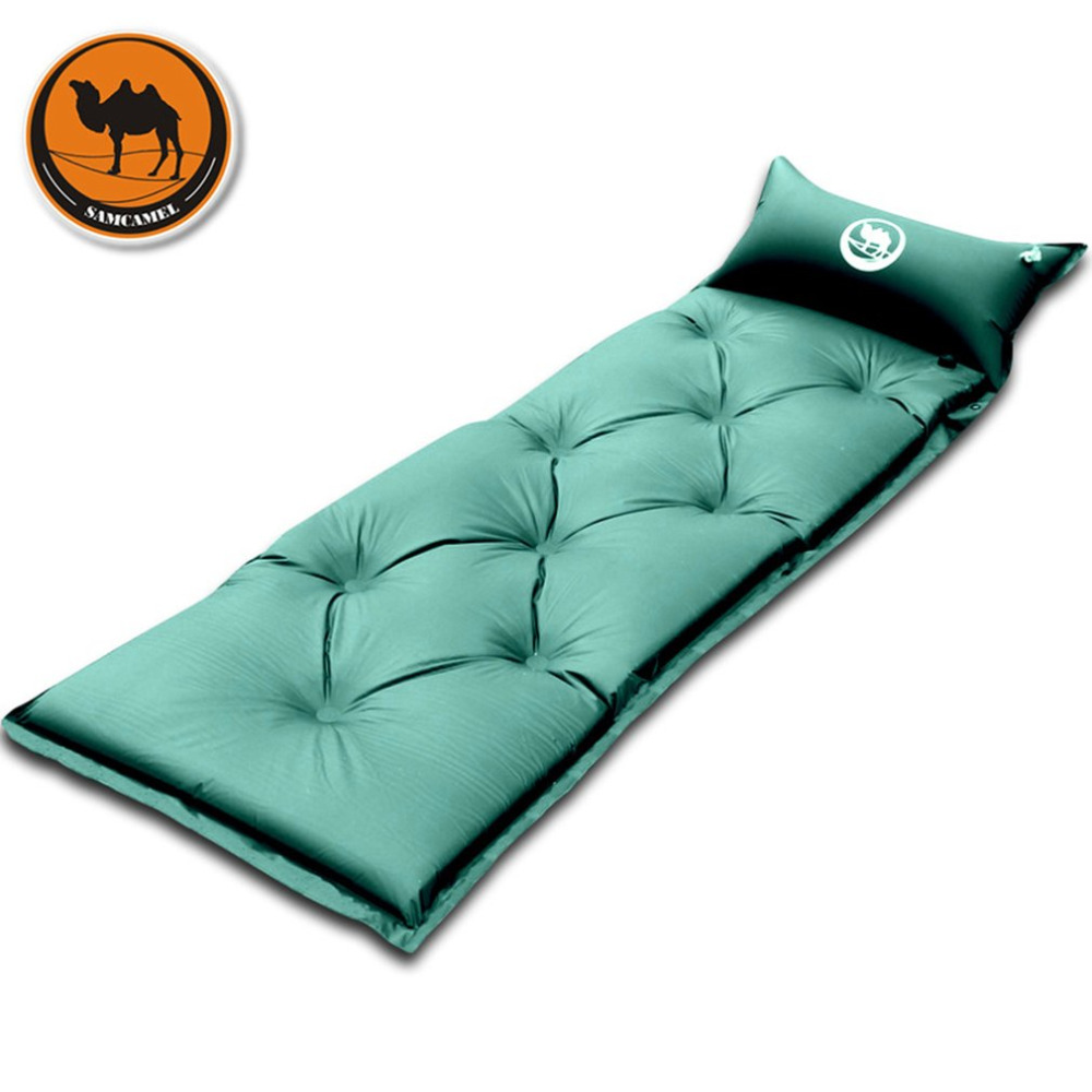 Thickened Automatic Inflatable Sleeping Mat Mattress With Pillow Portable Self-Inflating Sleeping Pad Drop Shipping
