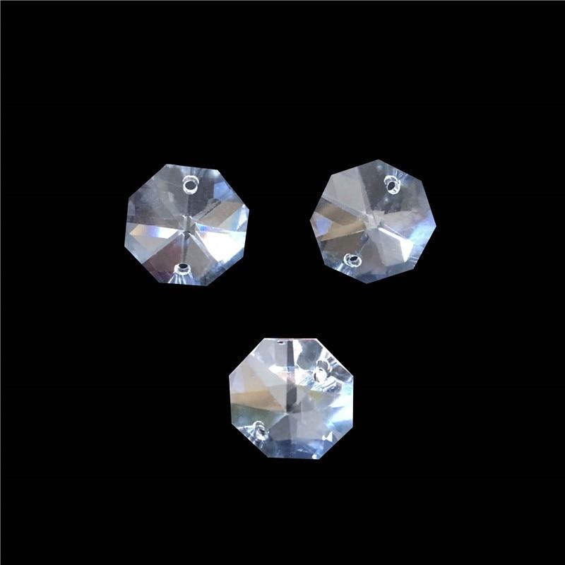 Горячая Распродажа! с 900 шт/партия 18 мм Восьмиугольные Кристаллы с 2 отверстиями, прозрачный цвет