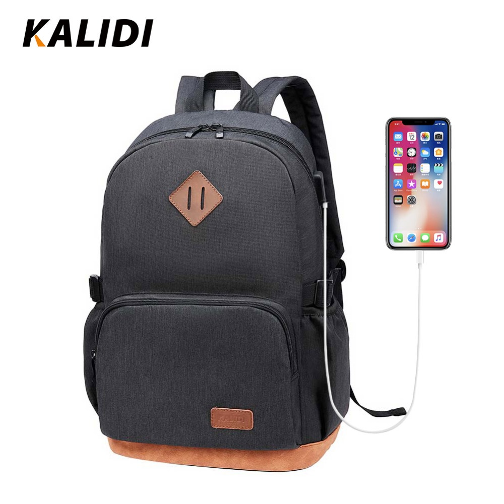96f6a2e766 KALIDI Non-Woven Fabric Men Backpack Large Capacity Backpack School Bags  for Teenagers USB Charging