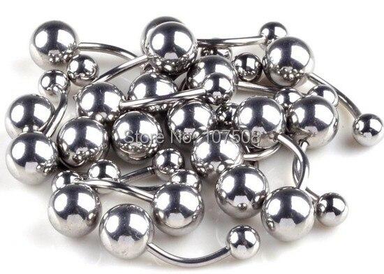Pinksee Rất Nhiều Bulk 30 cái Thép Không Gỉ Belly Button Navel Nhẫn Bar Body Piercing Trang Sức Bữa Tiệc Thời Trang Quà Tặng