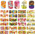 STZ 12 Designs/Sets Autumn Maple Leaf Nail Sticker Decals Beauty DIY Full Wraps Foils Watermark Nail Art Tattoos A1201-1212
