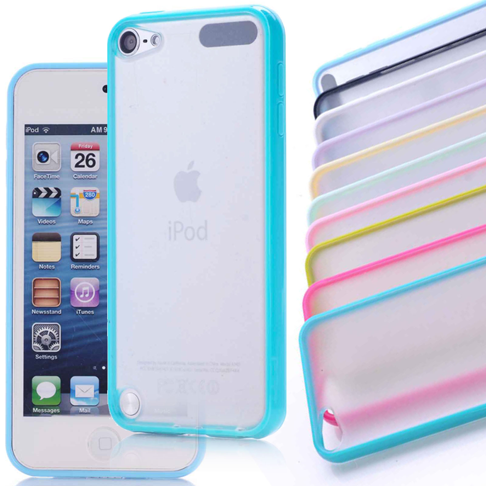 Slim matte skin case cover tpu frame hard white for Housse ipod touch 5
