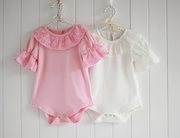 Summer-Breathable-Cute-Lacework-Kid-Baby-Jumpsuit-Bubble-Sleeve-Ruffled-Lace-Collar-Bodysuit-Shirt-2
