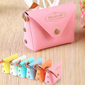 Hot Sale Candy Colors Handbags Girls Fashion Band Designer High Quality  Coin Packet Ladies Clutch PU Leather Purse Wallet