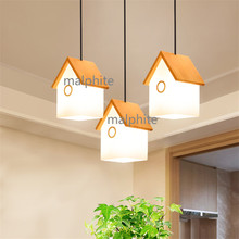 JAXLONG Modern Home Lighting pendant Light Fixture Nordic Style Wood House Pendant Lamp Bedroom Novelty Simple hanging lamp