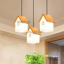 JAXLONG casa moderna iluminación colgante de luz de lámpara estilo nórdico, casa de madera colgante lámpara dormitorio novedad Simple lámpara colgante