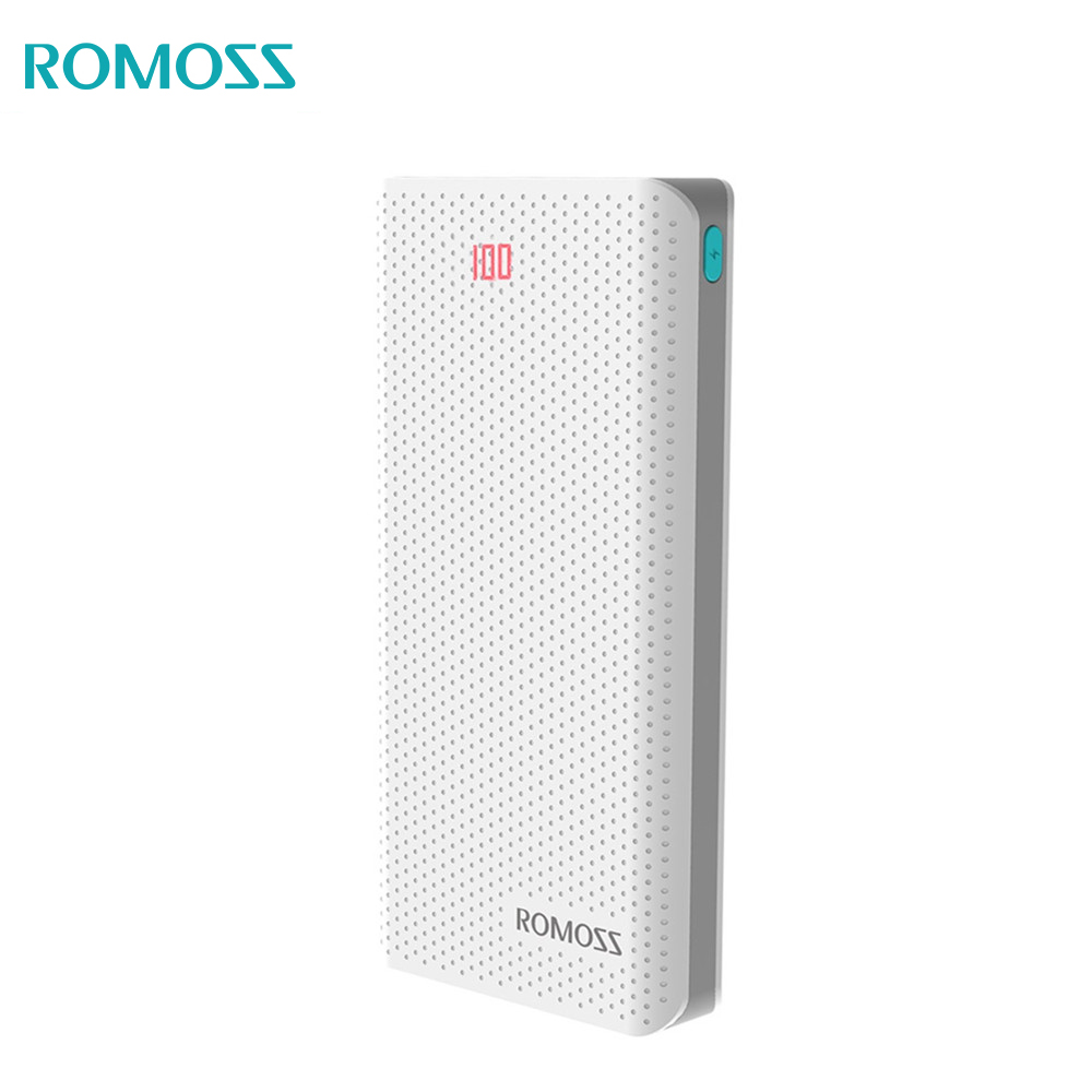 ROMOSS Sense6 LED 20000mAh Power Bank Portable Li polymer Powerbank with led indicator External Battery For