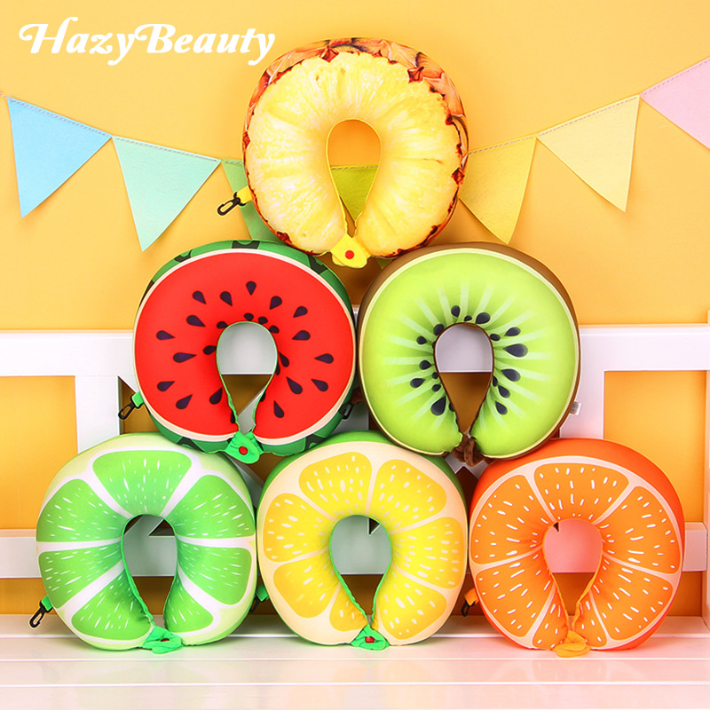 Fruits U Shaped Pillow Cushion Nanoparticles Neck Pillow Car Travel Pillow Travel Accessories