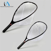Maximumcatch Fly Fishing Landing Net Carbon Frame Nomad Hand Strong Light Clear Rubber Net