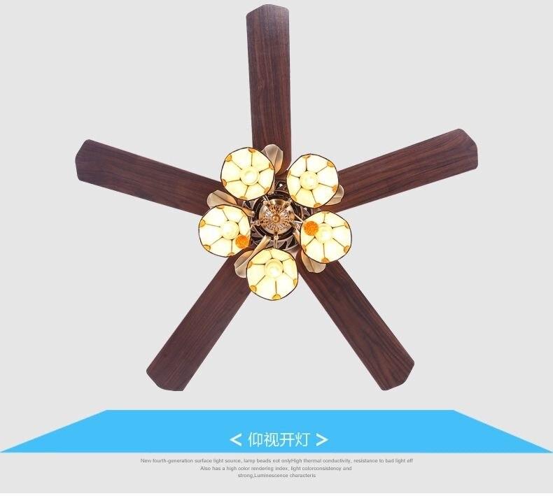 American Art copper lamp shade 52inch ceiling fan lights Fan light Tiffany fan lamp restaurant ceiling lights fan living room