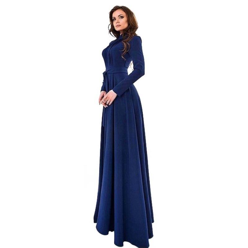 Элегантные женские Kaftan abaya, мусульманские Мусульманских Вечернее Длинное рукавом Винтаж длиной макси платье плюс Размеры T6