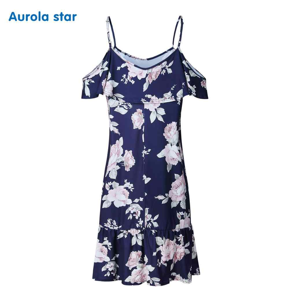 868e36602d1fe Maternity Summer Print Baby shower Dress Party Pregnant Ruffles Pregnancy  Dresses Plus Size Women Casual Maternity Clothes