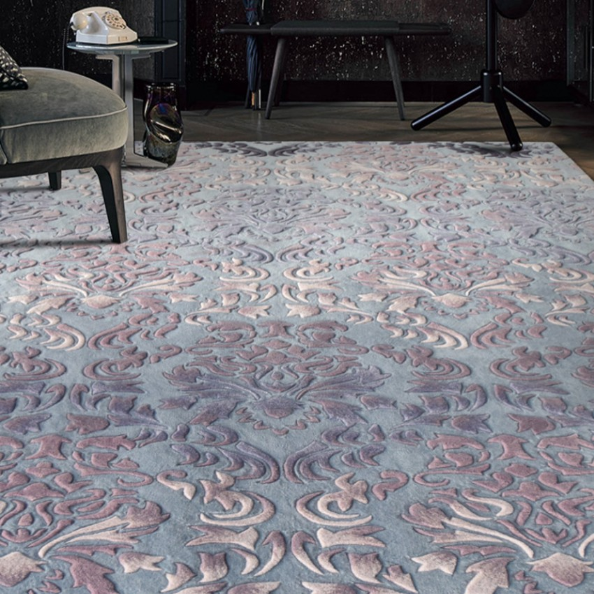 Tapis romantique de mariage de modèle 3D, tapis de salon fait main épaissir de laine de luxe de grande taille, tapis de décoration à la maison