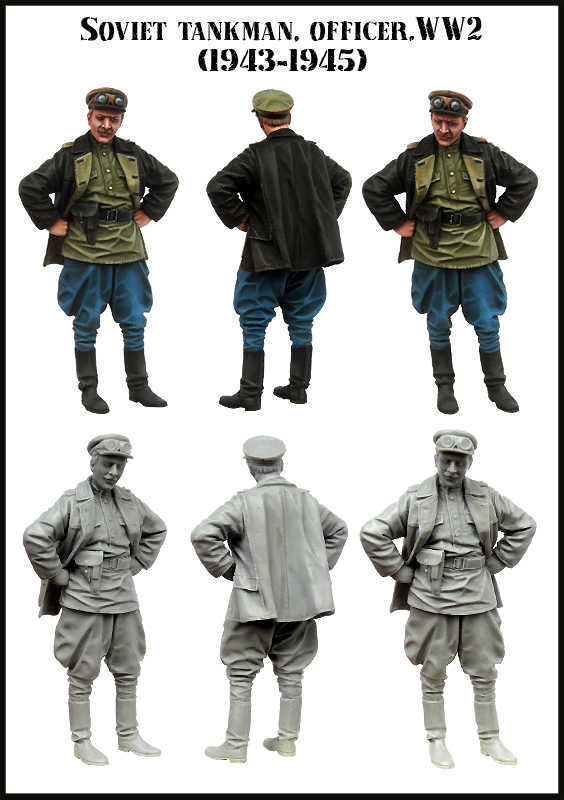 [tuskmodel] 1 35 scale resin figures unpainted model kits WW2 E155