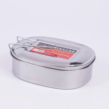 Best Quality Stainless Steel Square Lunch Box Bento Food Picnic Container Travel 1 Layer