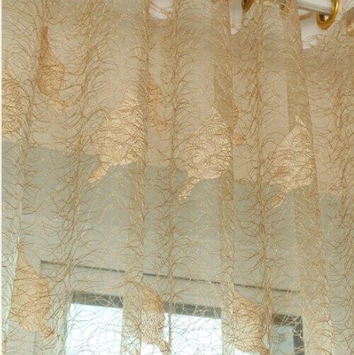 Fashion Stripe Rustic Curtain Yarn Bedroom Living Room: Embroidered Bird Nest Yarn Curtain Fashion Finished