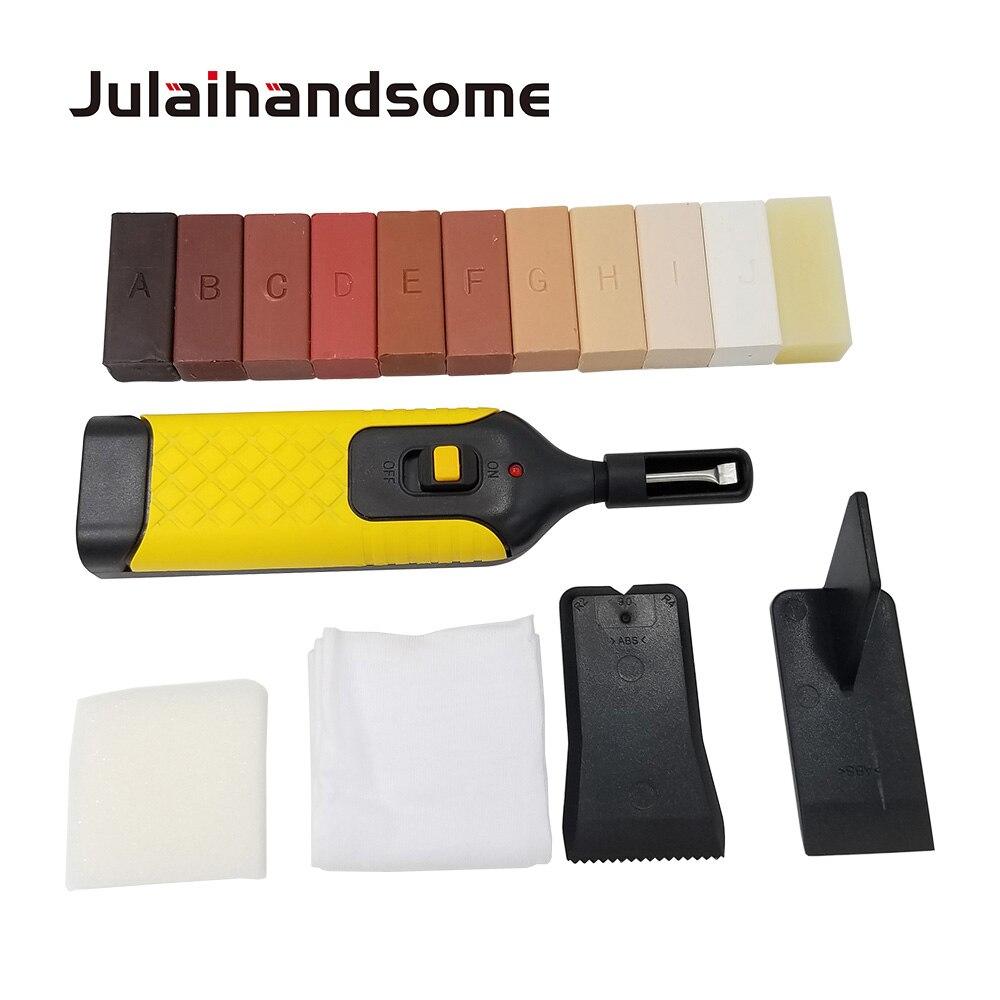 Laminaatvloer Reparatie Kit 11 Kleur Wax Blokken voor Reparatie Beschadigd Gelamineerd Vloeren Keuken Werkbladen