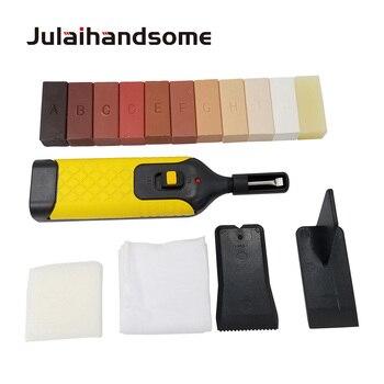 Laminat Boden Reparatur Kit 11 Farbe Wachs Blöcke für Reparatur Beschädigt Laminiert Bodenbelag Küche Arbeitsplatten