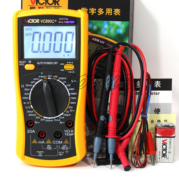 VICTOR VC890C+ Digital Multimeter capacitor temperature measurement multimeter