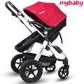 Nova arrivel alta qualidade carrinho de bebê dobrável suspensão luz bebê carro de quatro rodas bebê carro two-way