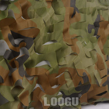 LOOGU 1.5mx6m cheaper Car covering tent Woodland Camouflage Netting Hunting  Camo Netting without edge binding and mesh net