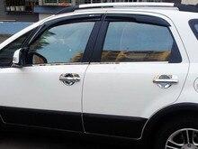 Для Suzuki SX4 07-11 5dr Crossover Новый Mugen Стиль Окно Visor Vent 2007 2008 2009 2010 2011